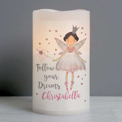 Personalised Fairy Princess Nightlight LED Candle,Pukka Gifts