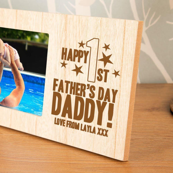 Personalised Happy First Father's Day Photo Frame