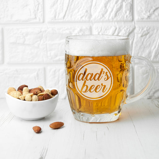 Personalised Name Dimpled Beer Glass