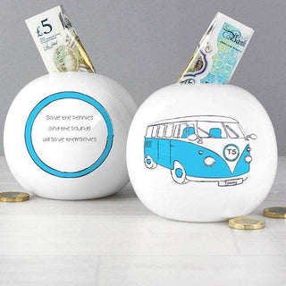 Personalised Camper Van Money Box from Pukkagifts.uk
