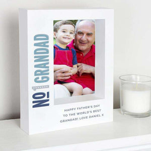 Personalised Number 1 Box Photo Frame 5x7 from Pukkagifts.uk