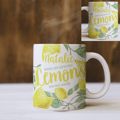 Personalised Life Gives You Lemons 11oz Mug