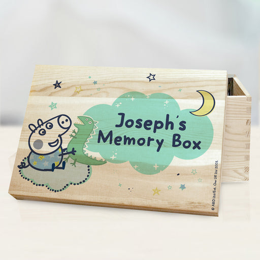 Personalised Peppa Pig George Pig Memory Box