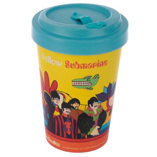 The Beatles Yellow Submarine Reusable Screw Top Bamboo Composite Travel Mug