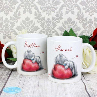 Personalised Me To You Heart Mug Set from Pukkagifts.uk
