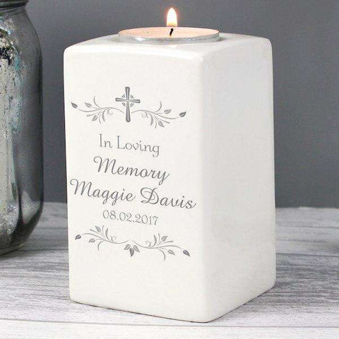 Personalised Sentiments Tea Light Candle Holder from Pukkagifts.uk