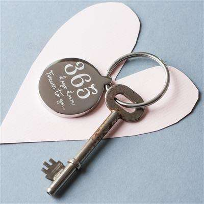 Personalised 1st Anniversary Keyring 365 Days Down Forever To Go from Pukkagifts.uk