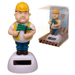 Solar Powered Nodding Builder Dashboard Toy from Pukkagifts.uk