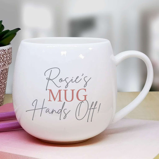 Personalised Hands Off Mug