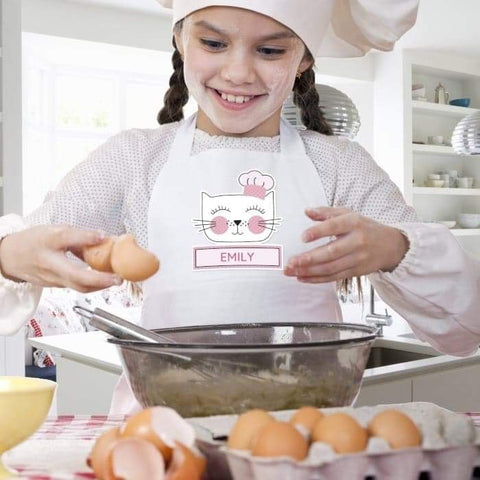 Personalised Cat Children's Apron from Pukkagifts.uk