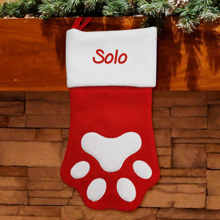 Personalised Paw Print Stocking