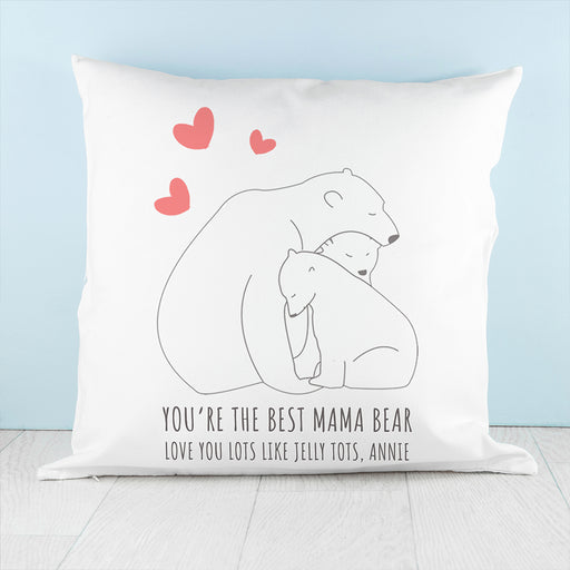 Personalised The Best Mama Bear Cushion Cover from Pukkagifts.uk