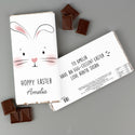Personalised Bunny Features Milk Chocolate Bar - Free UK Delivery