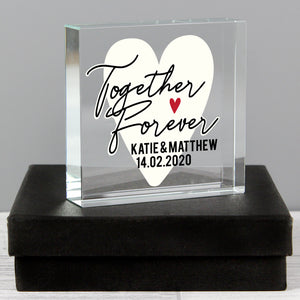 Personalised Together Forever Large Crystal Token