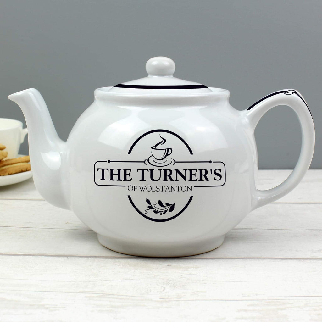 Personalised Full of Love Teapot from Pukkagifts.uk