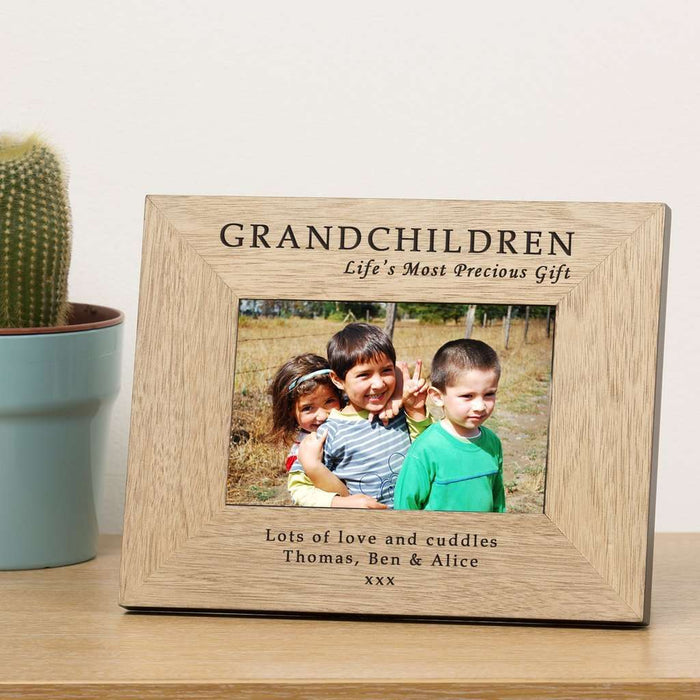GRANDCHILDREN Life's Most Precious Gift Photo Frame from Pukkagifts.uk