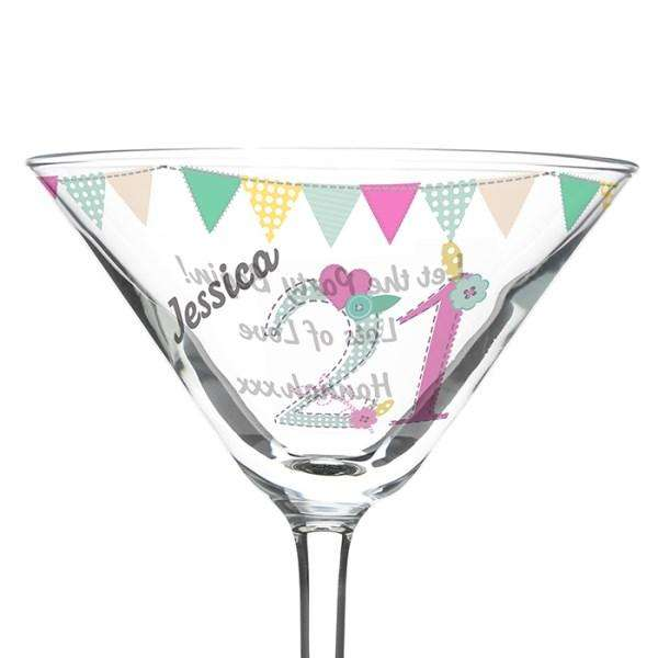 Personalised Age Birthday Craft Cocktail Glass from Pukkagifts.uk