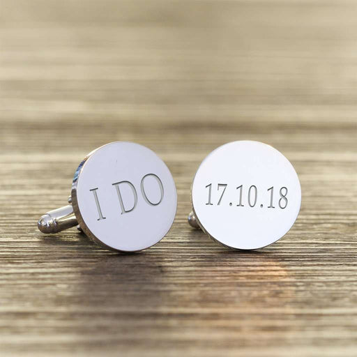 I DO Personalised Wedding Engraved Cufflinks from Pukkagifts.uk