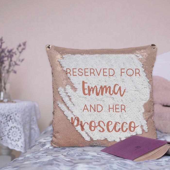 Personalised Rose Gold Secret Message Sequin Cushion
