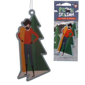 Snowboarder Mint Scented Car Air Freshener