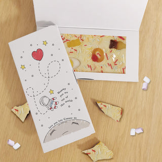 Personalised You Are Out Of This World White Chocolate Card