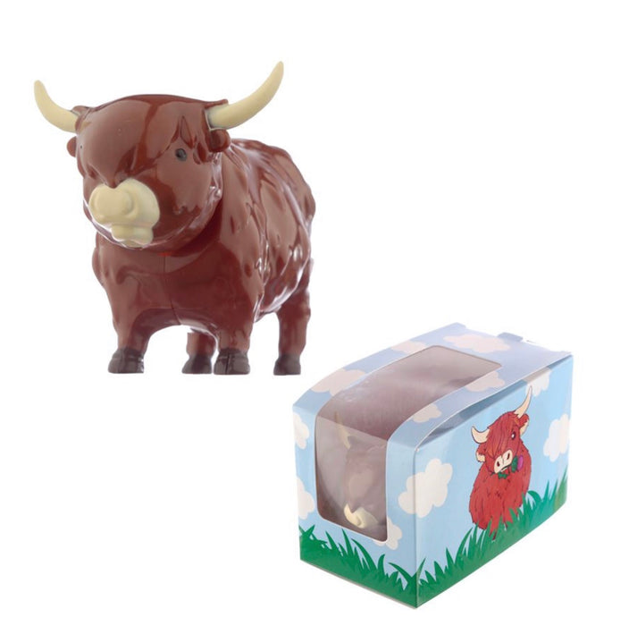 Highland Coo Cow Solar Powered Dashboard Wobbler Toy