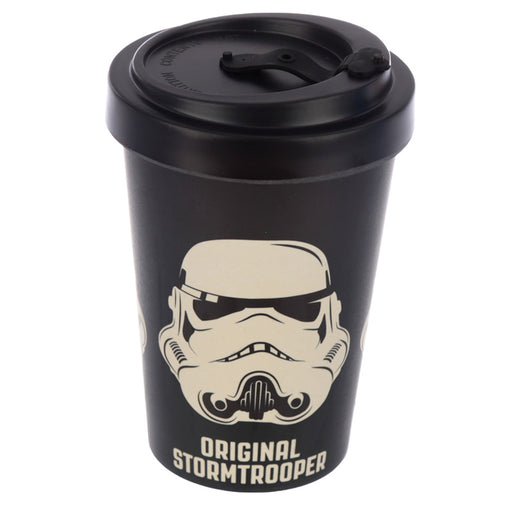 The Original Stormtrooper Black Reusable Screw Top Bamboo Composite Travel Mug