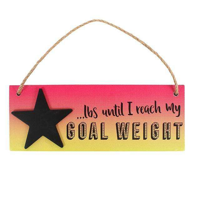 Weight Loss Countdown Hanging Sign from Pukkagifts.uk