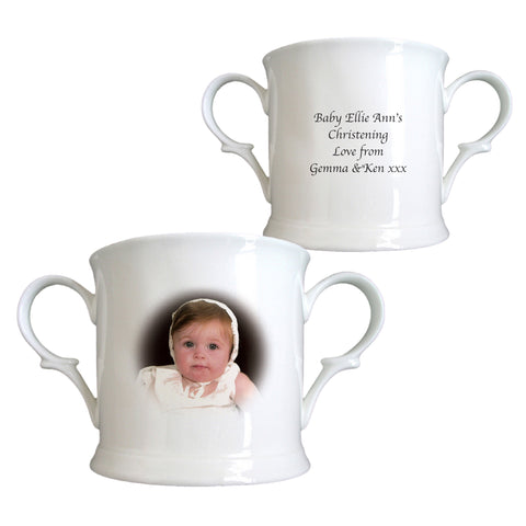 Personalised Photo Bone China Loving Cup from Pukkagifts.uk