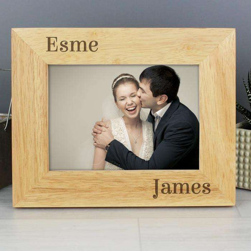 Personalised 7x5 Couples Wooden Photo Frame from Pukkagifts.uk