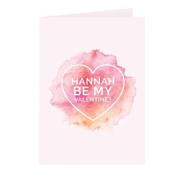 Personalised Be My Valentine Heart Card from Pukkagifts.uk