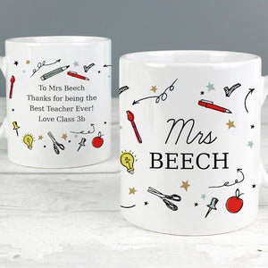 Personalised School Teachers Mug from Pukkagifts.uk
