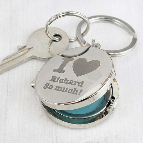 Personalised I Heart Photo Locket Keyring from Pukkagifts.uk