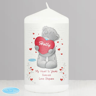 Personalised Me to You Big Heart Candle from Pukkagifts.uk