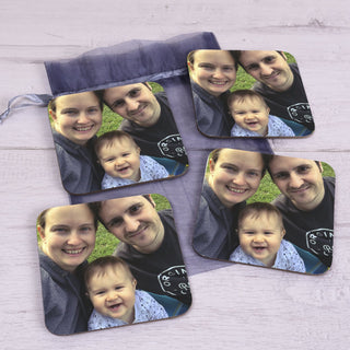 Photo Upload Coaster Set Of 4