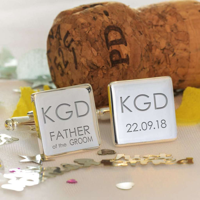 Engraved Square Cufflinks For Wedding Party from Pukkagifts.uk