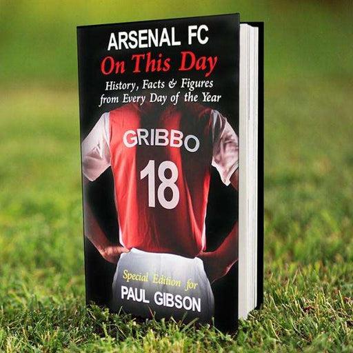 Personalised Arsenal On This Day Book from Pukkagifts.uk