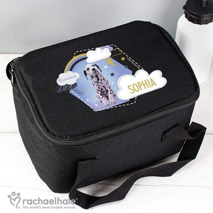 Personalised Rachael Hale Dalmatian Black Lunch Bag from Pukkagifts.uk