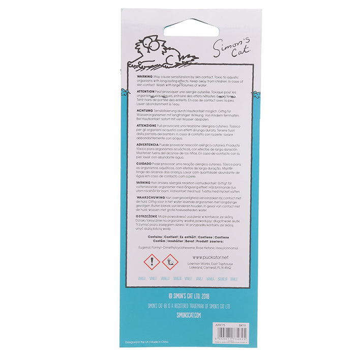 Vanilla Scented Simon's Cat Check Meowt Car Air Freshener With Free Delivery