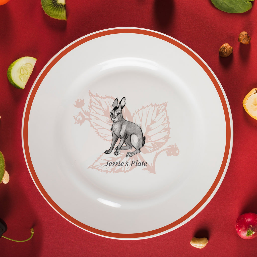 "Personalised Watership Down Big Wig Rimmed Plate 8"" from Pukkagifts.uk"