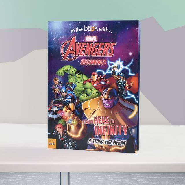 Personalised Marvel's Avengers Beginnings Book from Pukkagifts.uk