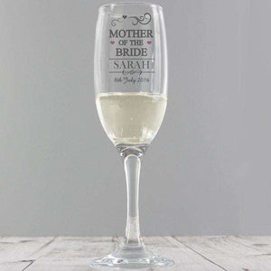 Personalised Mother Of The Bride Champagne Glass Flute,Pukka Gifts