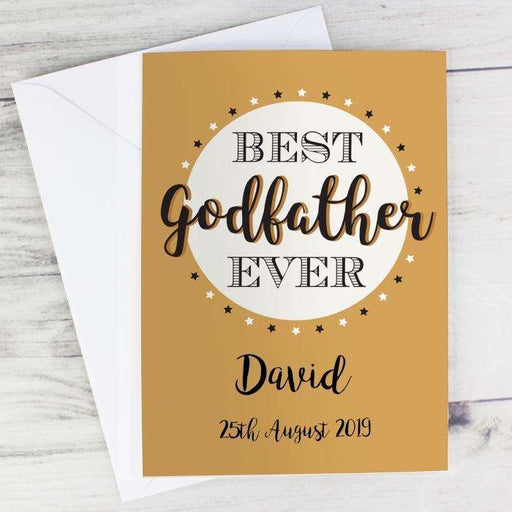 Personalised Best Godfather Card from Pukkagifts.uk