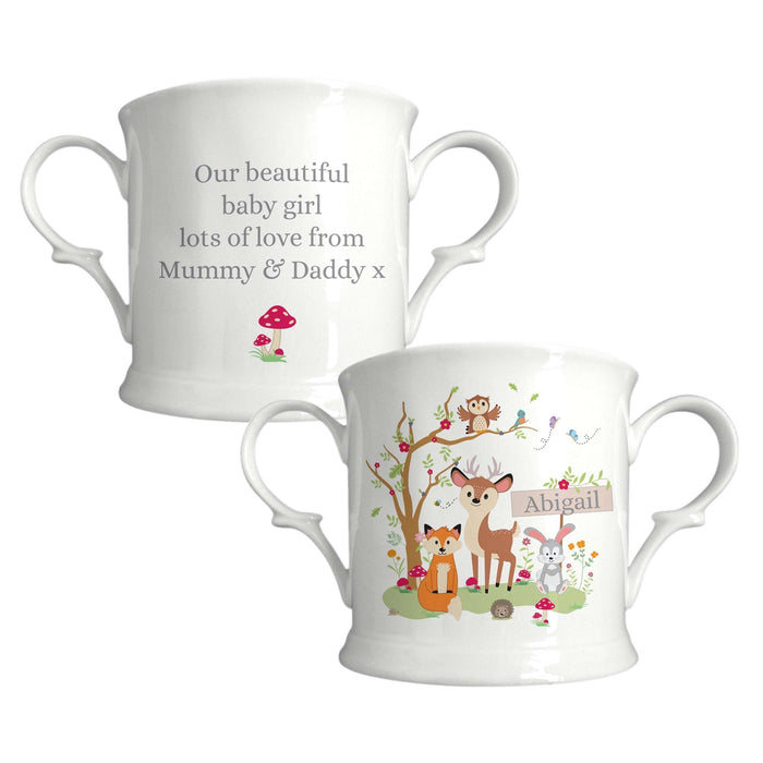 Personalised Woodland Friends Loving Cup from Pukkagifts.uk