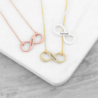 Personalised Infinity Necklace