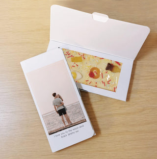 Personalised Photo Upload Letterbox White Chocolate Card