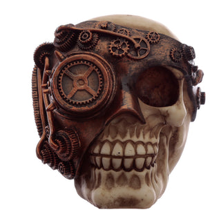 Steampunk Skull Ornament - Bronze