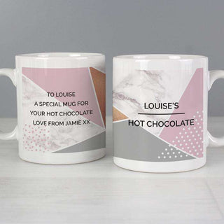 Personalised Geometric Mug from Pukkagifts.uk