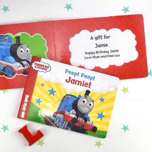 Personalised Thomas and Friends Peep Peep! Board Book from Pukkagifts.uk