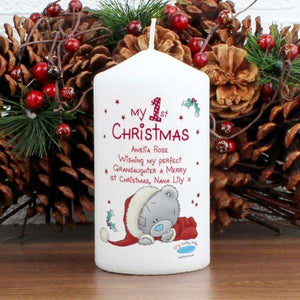 Personalised Me To You My 1st Christmas Candle from Pukkagifts.uk
